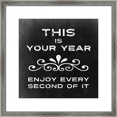 This Is Your Year Framed Print by Flo Karp