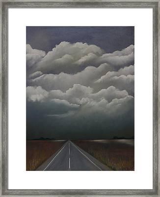 This Menacing Sky Framed Print by Cynthia Lassiter