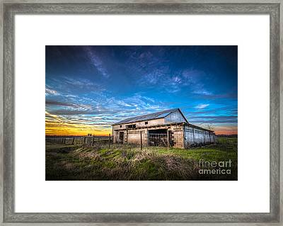 This Old Barn Framed Print by Marvin Spates