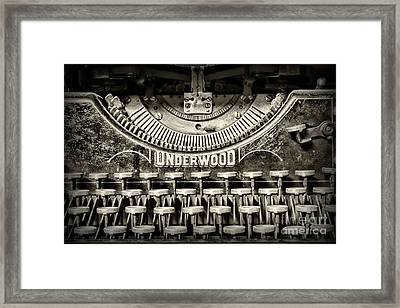 This Old Typewriter Framed Print by Paul Ward