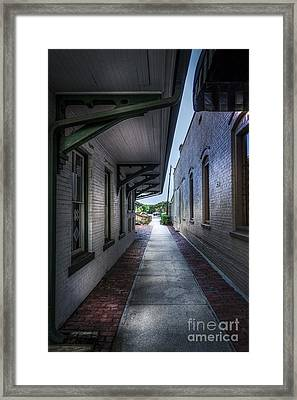 This Way To The Trains Framed Print by Marvin Spates