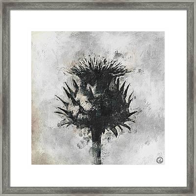 Thistle Framed Print by Gun Legler