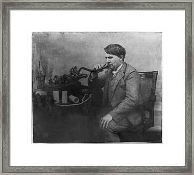 Thomas Alva Edison 1892 Framed Print by Digital Reproductions