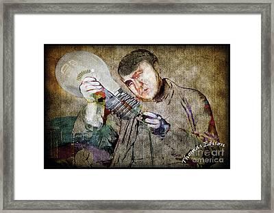 Thomas Alva Edison Framed Print by Gary Keesler
