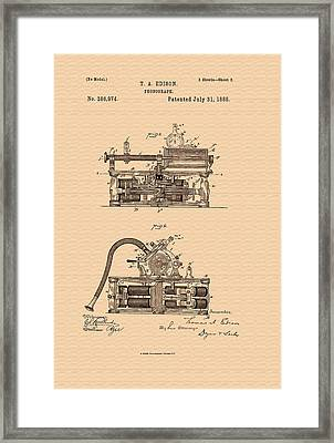 Thomas Edison's Phonograph Patent Framed Print by Mountain Dreams