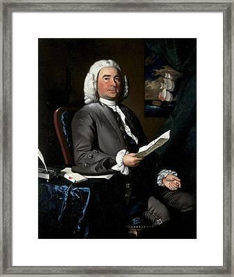 Thomas Greene, 1758 Oil On Canvas Framed Print by John Singleton Copley