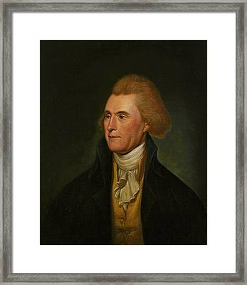 Thomas Jefferson, 1776 Framed Print by Charles Willson Peale