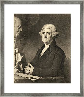 Thomas Jefferson Framed Print by American School