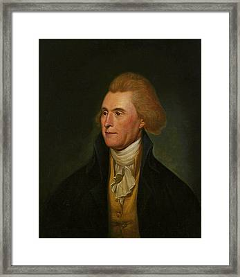Thomas Jefferson Framed Print by Charles Wilson Peale