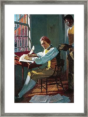 Thomas Jefferson In His Study Framed Print by Stanley Meltzoff / Silverfish Press