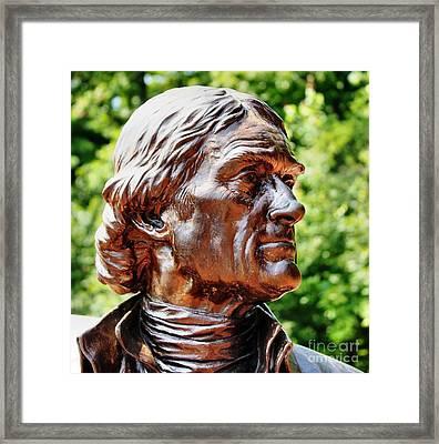 Thomas Jefferson Framed Print by Judy Palkimas