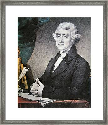 Thomas Jefferson Framed Print by Nathaniel Currier