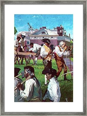 Thomas Jefferson With His Servants Framed Print by Stanley Meltzoff / Silverfish Press