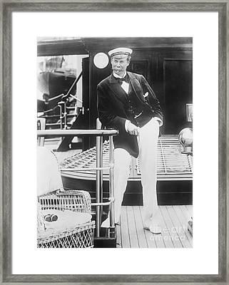 Thomas Lipton, Scottish Yachtsman Framed Print by Library Of Congress