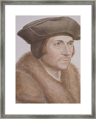 Thomas More Framed Print by Hans Holbein the Younger
