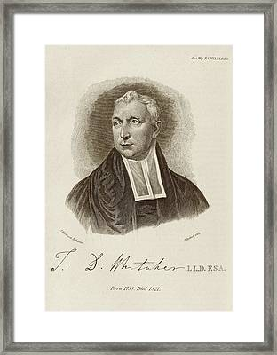 Thomas Whitaker Framed Print by Middle Temple Library