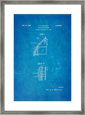 Thomason Solar Panel Patent Art 1967 Blueprint Framed Print by Ian Monk