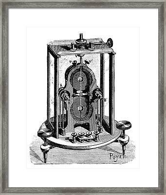 Thomson Galvanometer Framed Print by Science Photo Library