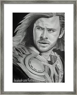 Thor Odinson - Chris Hemsworth Framed Print by Enrique Garcia
