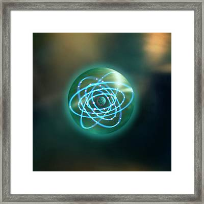 Thorium Atom Framed Print by Richard Kail