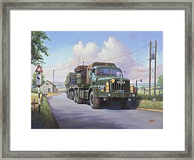 Thornycroft Antar. Framed Print by Mike  Jeffries