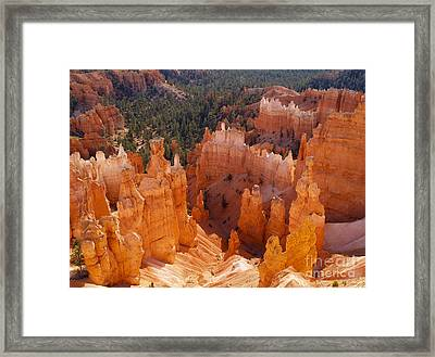 Thor's Hammer At Bryce Canyon In Utah Framed Print by Alex Cassels