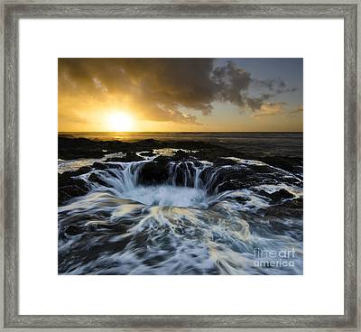 Into The Depths Framed Print by Bob Christopher