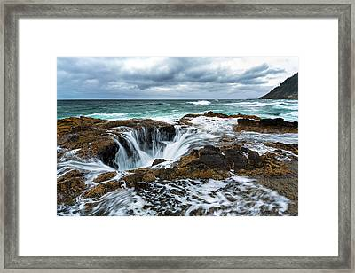 Thor's Well Framed Print by Robert Bynum