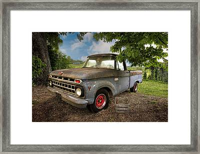 Those Were The Days Framed Print by Debra and Dave Vanderlaan