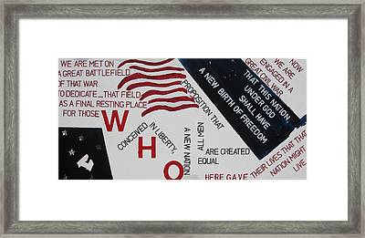 Those Who Gave Their Lives Framed Print by Lawrence  Dugan