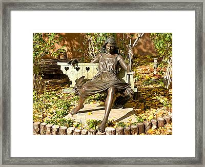 Thoughtfully Autumn Framed Print by Robert Meyers-Lussier