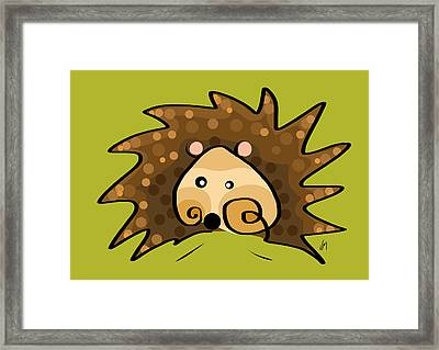 Thoughts And Colors Series Hedgehog Framed Print by Veronica Minozzi