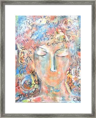 Thoughts Framed Print by Chaline Ouellet