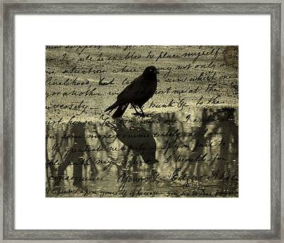 Thoughts Of Poe Framed Print by Gothicolors Donna Snyder