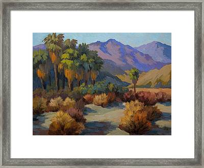 Thousand Palms Framed Print by Diane McClary
