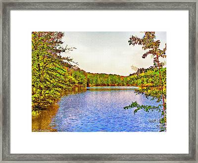 Thousand Trails Preserve Natchez Lake  Framed Print by Bob and Nadine Johnston