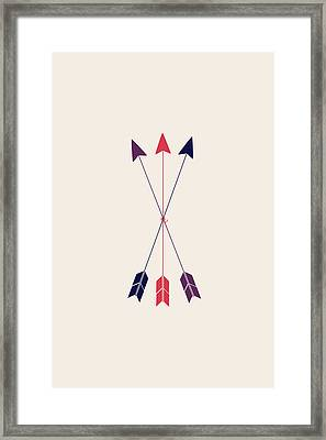 Three Arrows  Framed Print by Sara Habecker