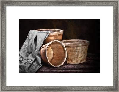 Three Basket Stil Life Framed Print by Tom Mc Nemar