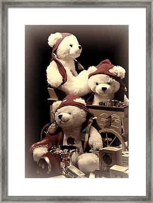 Three Bears Creative Framed Print by Linda Phelps
