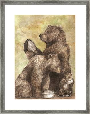 Three Bears Framed Print by Meagan  Visser