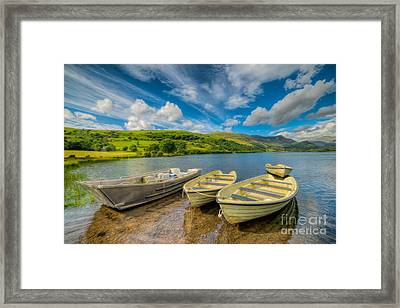 Three Boats Framed Print by Adrian Evans