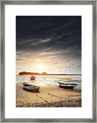 Three Boats Framed Print by Carlos Caetano