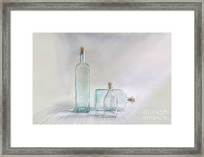 Three Bottles Framed Print by Veikko Suikkanen