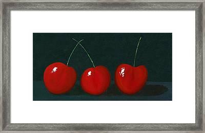 Three Cherries Framed Print by Karyn Robinson