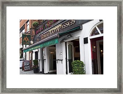 Three Compasses Pub Framed Print by Cheri Randolph