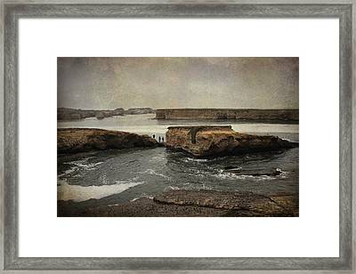 Three Fishermen Framed Print by Laurie Search