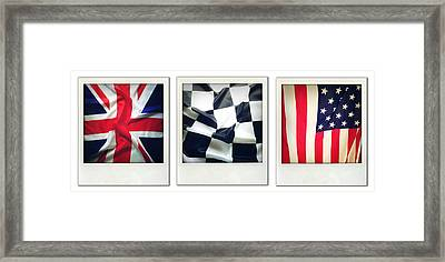 Three Flags Framed Print by Les Cunliffe