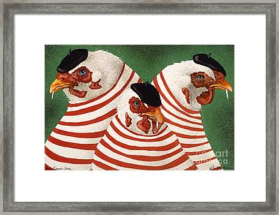 Three French Hens... Framed Print by Will Bullas