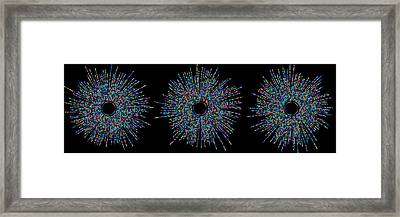 Three Friends Medium Bubbles Framed Print by Cristian Ilies Vasile