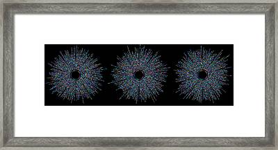 Three Friends Small Bubbles Framed Print by Cristian Ilies Vasile